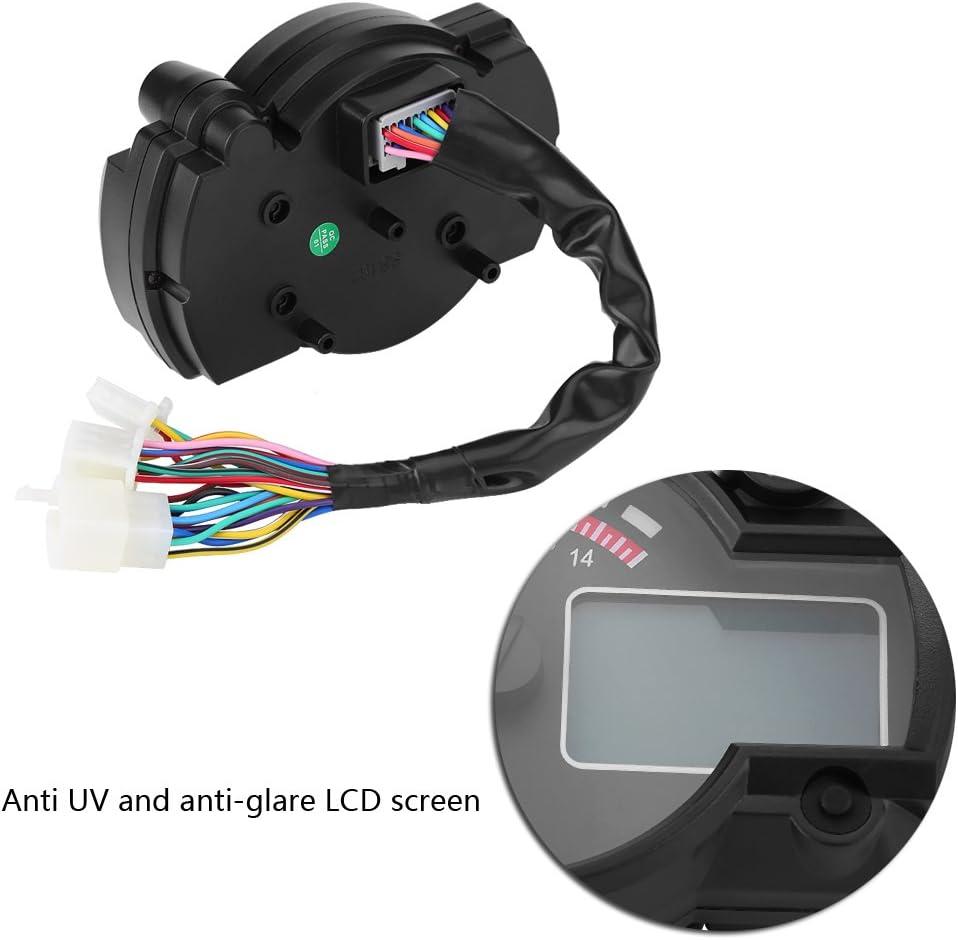 Contachilometri digitale colorato LCD Contachilometri Contagiri con sensore di velocit/à Moto universale