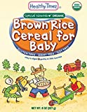 Healthy Times Organic Whole Grain Cereal for Baby, Brown Rice, 8 Ounce