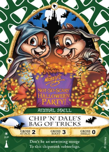 Sorcerers of the Magic Kingdom Card 01/P: Chip 'N' Dale's Bag Of Tricks Animal Spell from Walt Disney World WDW Mickey's Not-So-Scary Halloween Party 2012