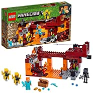 LEGO Minecraft The Blaze Bridge 21154 Building Kit, New 2019 (370 Pieces)