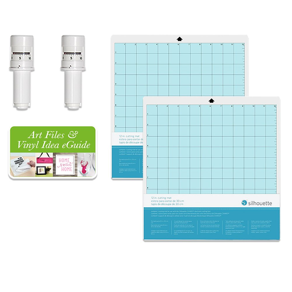2 Silhouette Cameo 3 Autoblades and 2-12 x 12 Inch Silhouette Cameo Cutting Mats Silhouette America 4336849884
