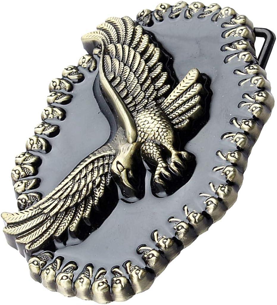Baoblaze Vintage Western G/ürtelschnalle Adler Metall Cowboy Indianer G/ürtelschnalle