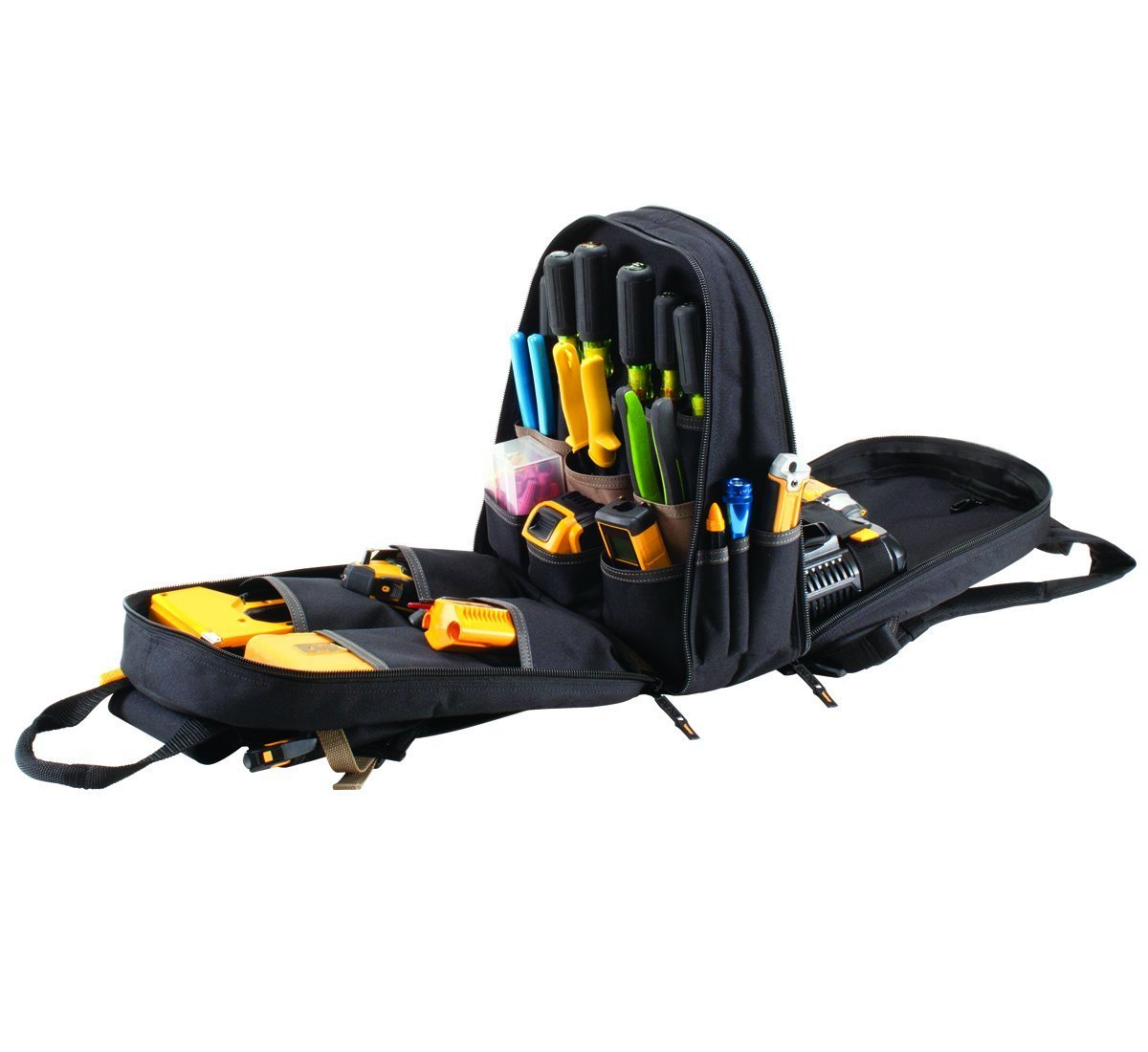 CLC 1134 Carpenter's Tool Backpack with 44 Pockets and Padded Back Support by Custom Leathercraft (Image #8)