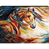 Westland Giftware Marcia Baldwin Canvas Wall Art Horse Wind, 12-Inch by 16-Inch