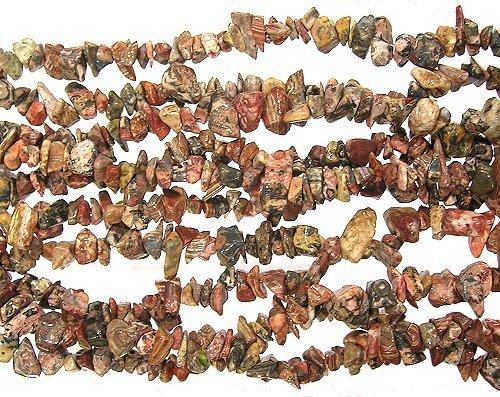 Leopardskin Jasper Gemstone Chip Beads 36