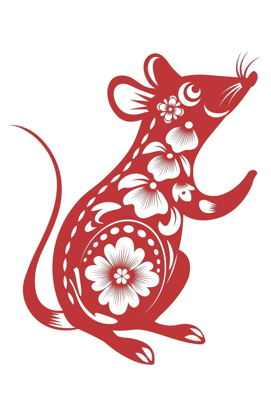 """Year of the Rat: Journal Red Paper Cut Rat Chinese Zodiac Sign Happy  Chinese New Year 2020 Year of the Rat 100 lined pages, 6""""x9"""" Kawaii: Krull,  Casida: 9781703683608: Amazon.com: Books"""