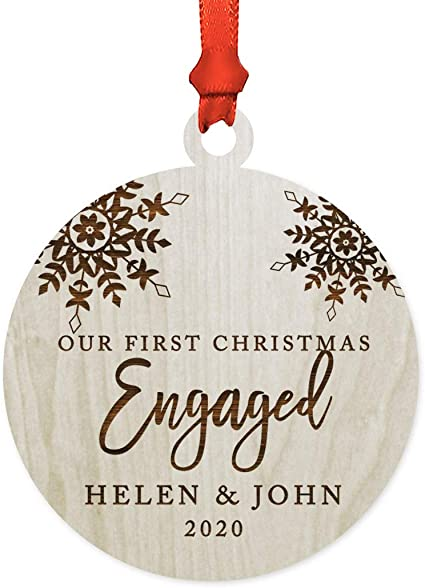 Grandma Gift Personalized Christmas Ornaments 3 Small Custom Gifts Customized Gift Wedding Ornament Sister Gifts Engagement Ornament
