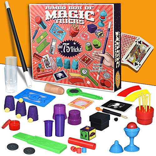 Tesoky Magic Kit for Kids Age 6-10 Magic Tricks for Kids 8-10 Year Old Birthday Gifts for Boys 6-10 Year Old Party Favor Magic Tricks Magic Set for 6-10 Year Old. (red) GMA1