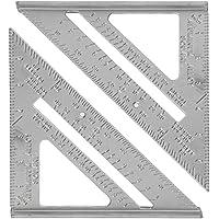 """NUOBESTY 7"""" Metrik Üçgen Cetvel, Marangoz Mühendisi için Alüminyum Üçgen Cetvel Açı Cetveli"""