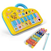 NextX Baby Music Toy Sound Piano Keyboard Electronic Learning Toy for Kids (Yellow)