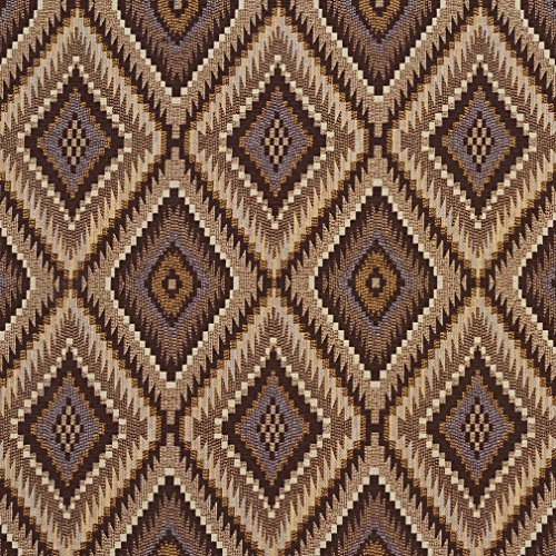 (E727 Brown and Gold Woven Southwestern Diamonds Upholstery Fabric by The Yard)