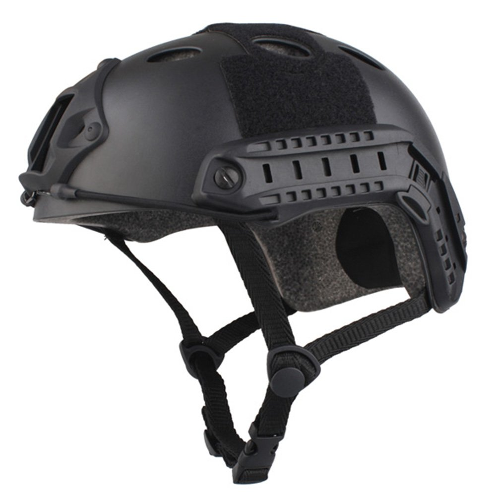 EMERSONGEAR PJ Type Fast Helmet Tactical Protective Helmet for Airsoft Paintball Hunting Cycling Motorcycle Black by EMERSONGEAR