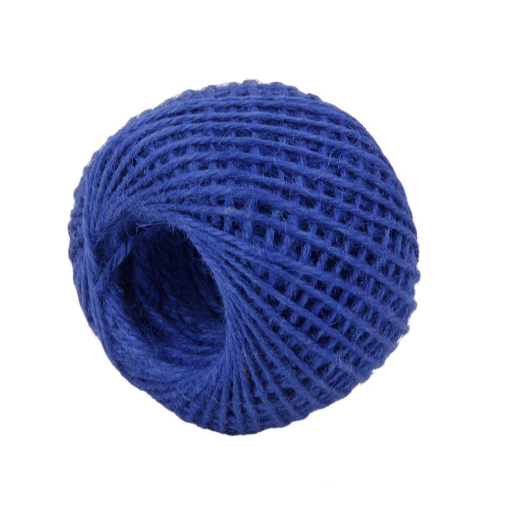 Demarkt 50m DIY Geschenkband, Gartenschnur Garden Rope 2mm for Crafts Arts and Gardening Applications,Blau