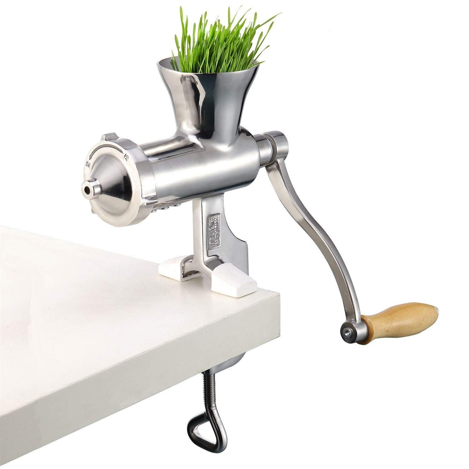 TongBF Manual Stainless Steel Wheatgrass Juicer Manual Auger Slow Squeezer Fruit Wheat Grass Vegetable Fruit Orange Juice Press Extractor
