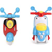 Toy Arena Bright Color Quality Scooter for 1 Year Old Baby Push and Go Toy Mini Vehicle Scooter for Kids(Pack of 2)