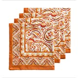 Maison d' Hermine Palatial Paisley 100% Cotton Set of 4 Napkins 20 - Inch by 20 - Inch