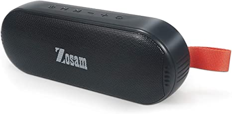 Amazon.com: Zosam Portable Bluetooth Wireless Speaker, HiFi 16W Deep Bass, IPX6 Waterproof 18H Playtime True Wireless Stereo Speaker with Built-in Mic and AUX/SD Input for Shower, Beach, Party, Travel (Black): Home Audio & Theater
