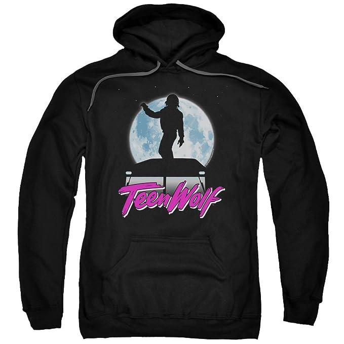 Teen Wolf - Sudadera con Capucha - para Hombre Negro Negro XXX-Large