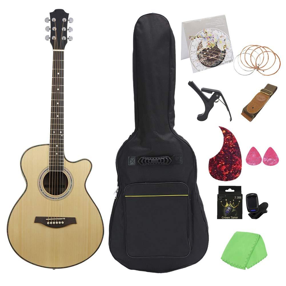 NUYI Guitarra Popular De 40 Pulgadas Material De Madera De Cebra ...