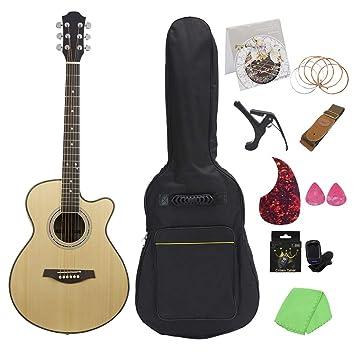 NUYI Guitarra Popular De 40 Pulgadas Material De Madera De ...