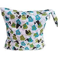 Impermeable Bebé Bolsa de Pañales Reutilizable Lavable Bolso