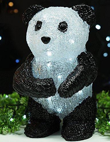 BRIGHT ZEAL 11' Tall Acrylic PANDA LED Solar Lights Outdoor - Solar Garden Statues and Sculptures Panda Decor - Yard Decorations Animals LED Lights Garden Outdoor - Home Improvement Outdoor Lighting
