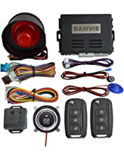 banvie car security alarm system with remote engine start & push to start  stop button (