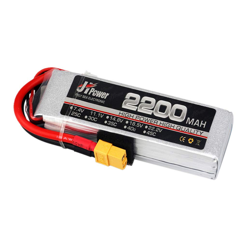 Pstars JHPower Lipo Battery 11.1V 2200mAh 3S-45C Battery XT60 Plug for RC Modle Quadcopter Drone Model Airplane High-Rate Drone Battery Aircraft Model Lithium Battery by Pstars (Image #1)