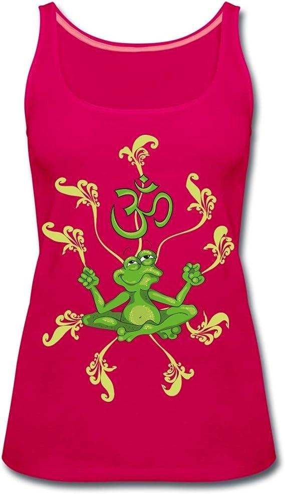Frosch beim Yoga Frauen Premium Tank Top von Spreadshirt®