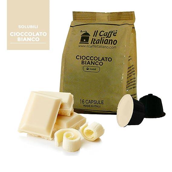 96 Cápsulas compatibles Nescafé Dolce Gusto - Chocolate Blanco - Il Caffè Italiano - FRHOME