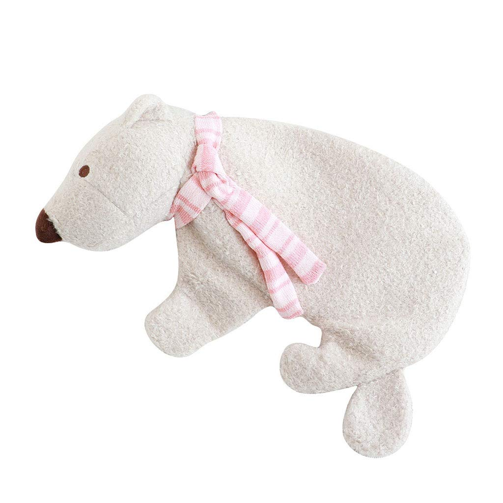 Jinhaoqian toys Polar Bear Plush Hot Water Bottle Winter Warm Antifreeze Water Warm Hand Pot Natural Rubber Seaweed Velvet Fabric Girls by Jinhaoqian toys
