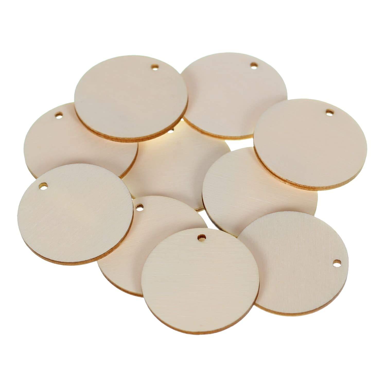 Holz Kreise Kreise Kreise Loch Scheiben mit 1 Loch - 1-60cm Streudeko Basteln Deko Tischdeko, Pack mit 100 Stück, Durchmesser Ø 7cm B07H8KZWYT | Fierce Kaufen  5578fb