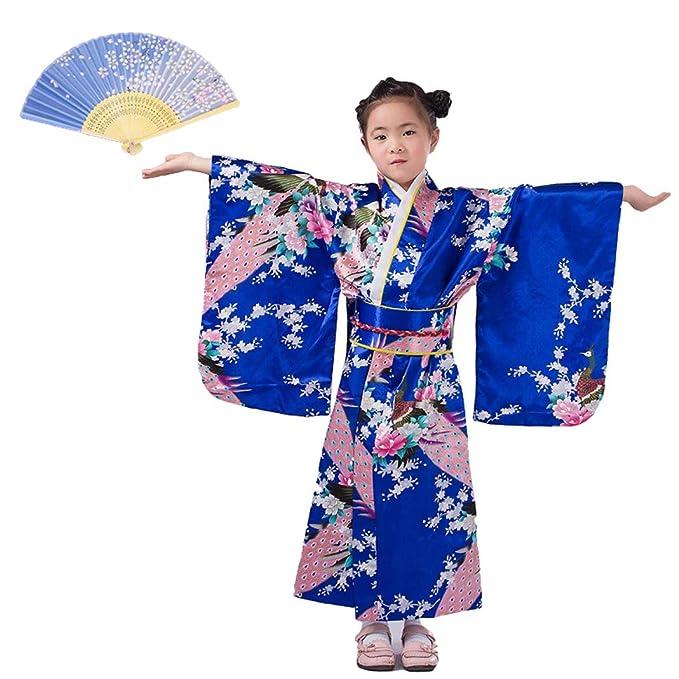 LOLANTA Vestido Kimonos asiáticos para niñas Vestido ...