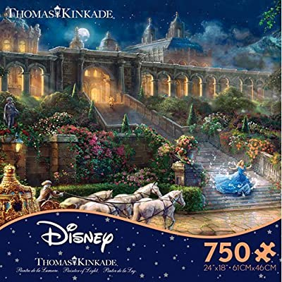 Thomas Kinkade Cinderella The Clock Strikes Midnight 750 Piece Jigsaw Puzzle By Ceaco