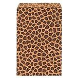 "888 Display USA - 200 Cheetah Leopard Print Paper Bag Gift Bag Merchandise Bag (5"" x 7"")"