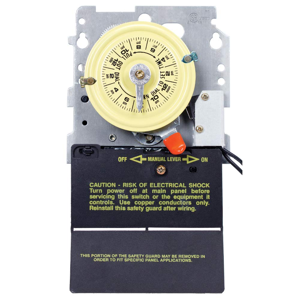 Intermatic T104M201 24-Hour Mechanical Timer with Heat Protection DPST by Intermatic
