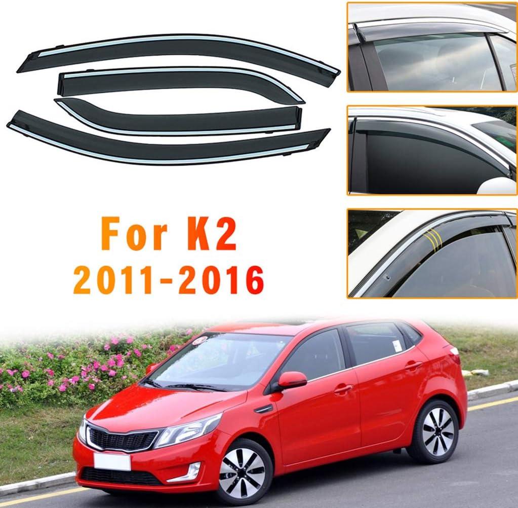 for KIA SPORTAGE R 2018-2019 4PCS Smoke Sun Rain Visor Deflector Guard Wind Deflectors Car Styling Front Rear Shade Window