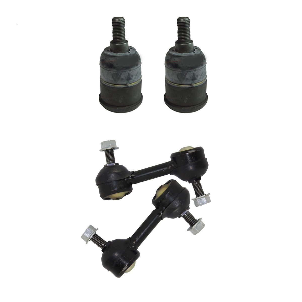 Detroit Axle - Complete 4pc Front Sway Bar Links and Lower Ball Joints Kit for 2009 2010 2011 2012 2013 2014 Acura TSX - [2008-2012 Honda Accord]