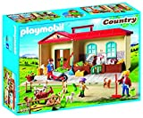 Playmobil 4897 Country Take Along Farm with Carry Handle and Fold-Out Stables - Multicolor