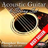 Adagio 2 SETS Professional Acoustic Guitar Strings 10-47 Phosphor Bronze (PACK OF 2 FULL SETS)