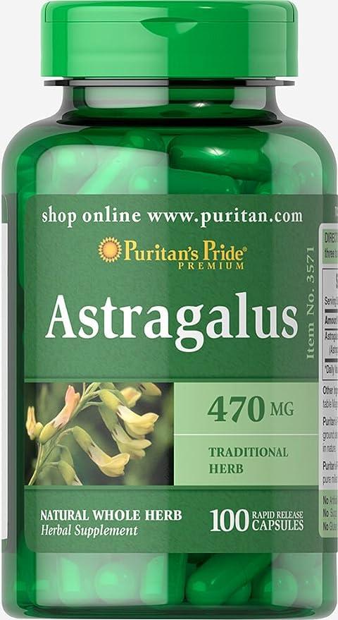 1 opinioni per Puritan's Pride Astragalus 470 mg-100 Capsules