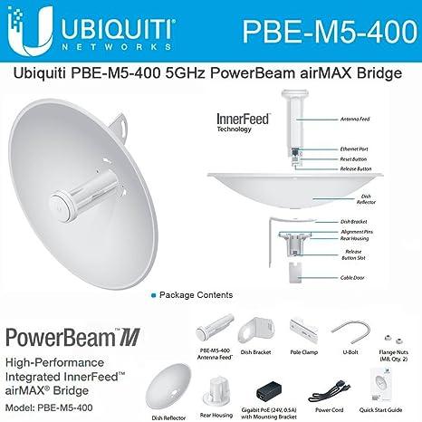 6190f4e10c06a Ubiquiti Networks Pbe-M5-4005ghz Powerbeam, Airmax, 400mm