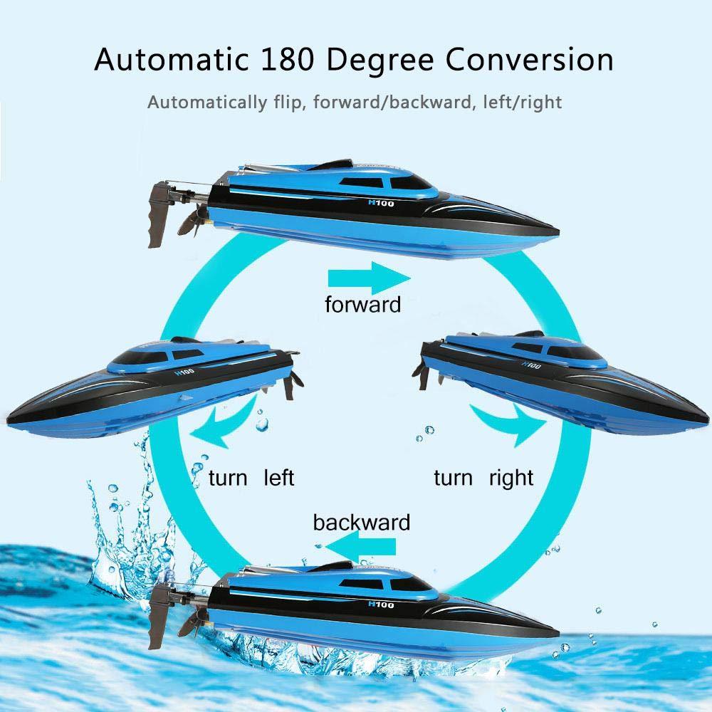 Barco de Control Remoto de 4 Canales de Alta Velocidad de 2.4GHz 30 km//h Barco teledirigido,Bote de Carreras de Alta Velocidad Juguetes de Control de Radio para Adultos y ni/ños