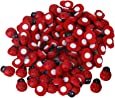 100 Pcs Small Wooden Beetle Sponge Sticker Ladybug Sticker