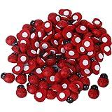 100 Pezzi Piccolo Scarabeo Spugna Adesivo Adesivo Coccinella Di Legno