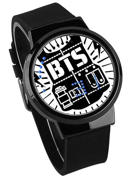 HUWAI BTS Grupo de Jovenes Relojes Pantalla Táctil Impermeable LED Electrónico Anime de Dibujos Animados Cuarzo