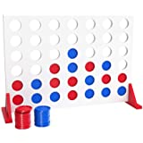 Bundaloo Jumbo Wood 4 in a Row Game - 2 Player Large Table Game for Family Parties - Camping, Indoor and Outdoor Fun for…