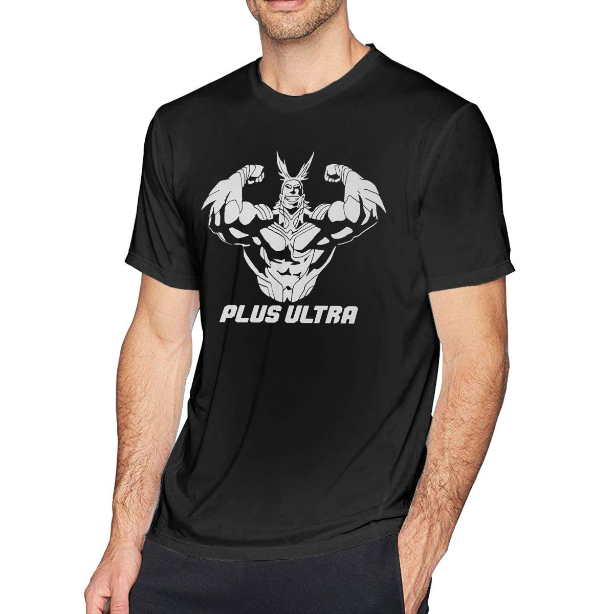 NeedLove Mens Cool My Hero Academia No1 T Shirts Black