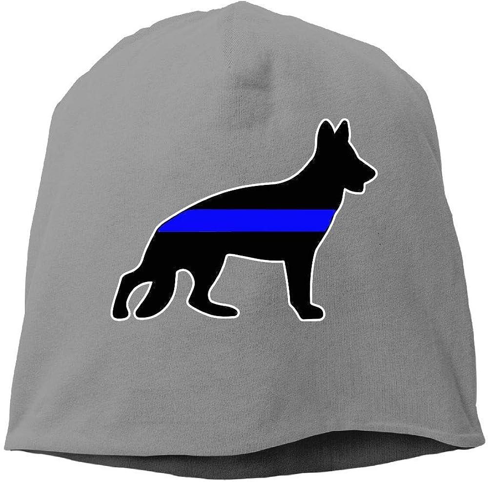SHA45TM German Shepherd Thin Blue Line Men Women Winter Helmet Liner Fleece Skull Cap Beanie Hat for Hiking Black