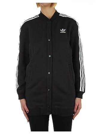 adidas Damen 3S Long Bomber Sweatshirt, Schwarz, 28: Amazon